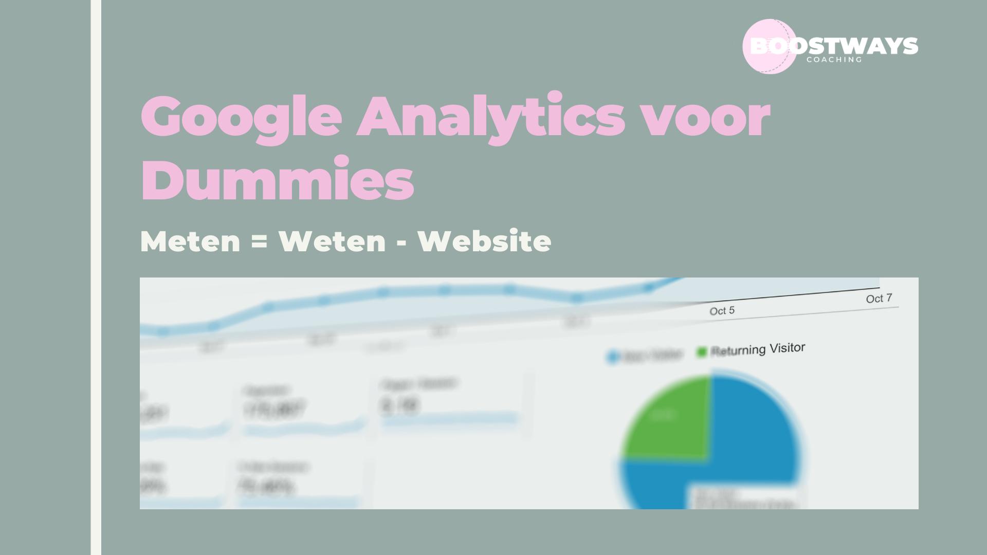 Google Analytics uitgelegd voor Dummies