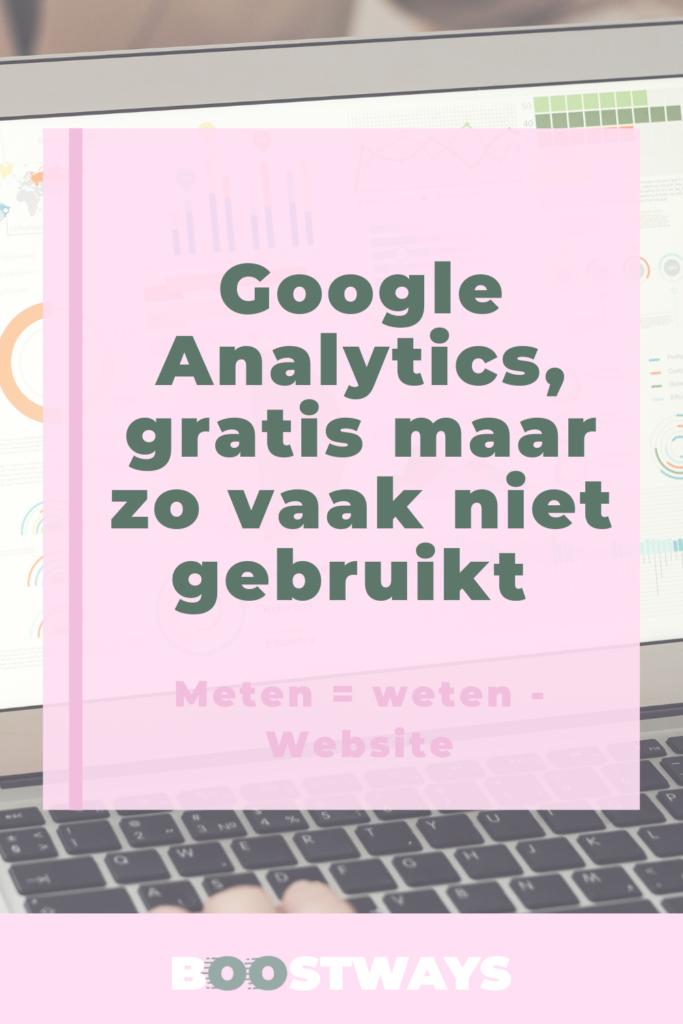 Google Analytics is gratis maar nog vaak niet gebruikt.