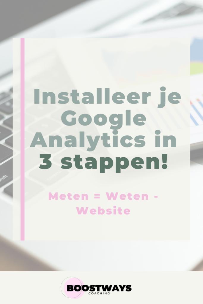 Installeer Google Analytics in drie stappen