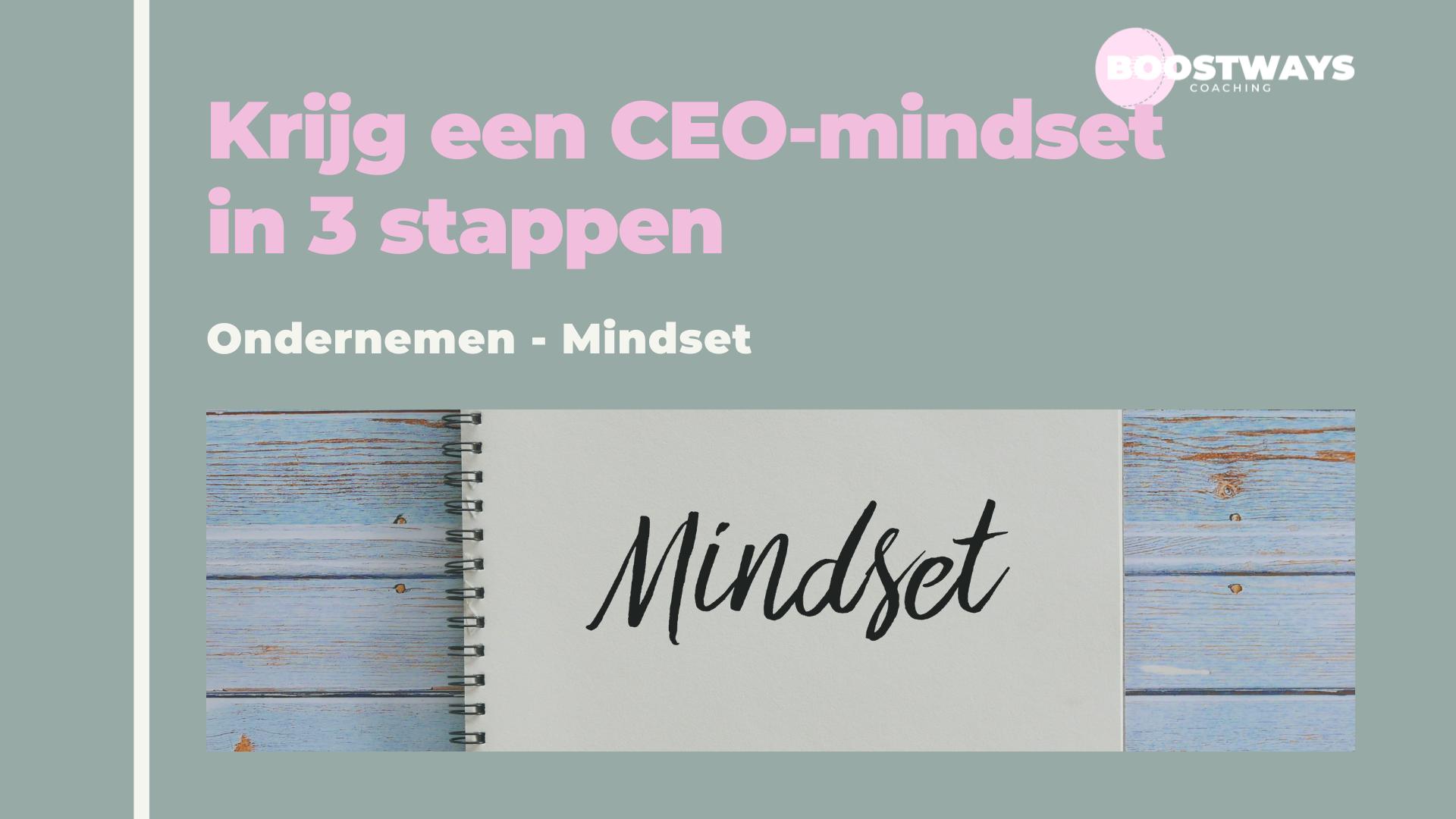 Krijg een CEO-mindset in 3 stappen